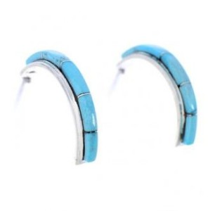 About Large Turquoise Hoop Earrings