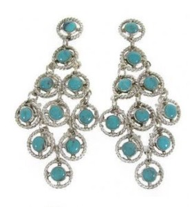 About Turquoise Chandelier Earrings