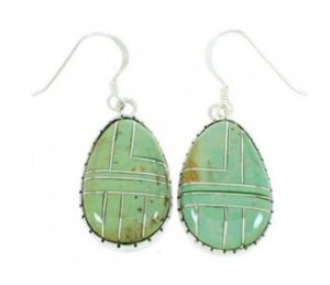 About Turquoise Slab Earrings