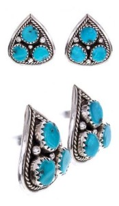 Turquoise Stud Earrings photo