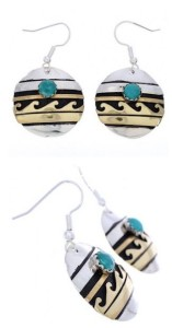 About Turquoise and Gold Earrings