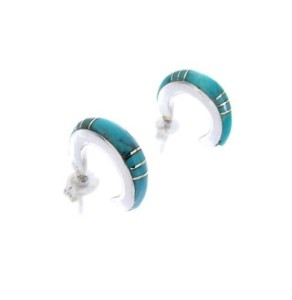 about turquoise hoop earrings